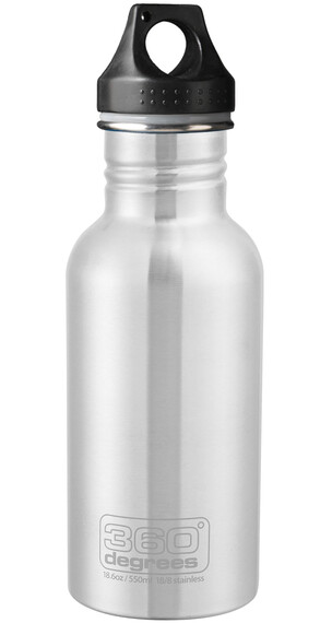 360° degrees Stainless Drinkfles 550ml grijs